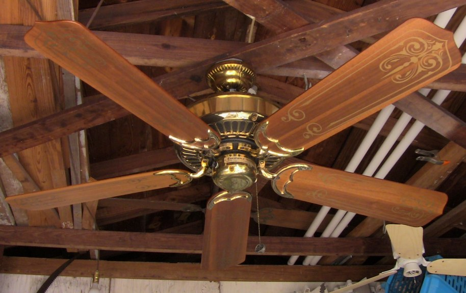 Casablanca panama 5 brass ceiling fan february 1983 mozeypictures Gallery