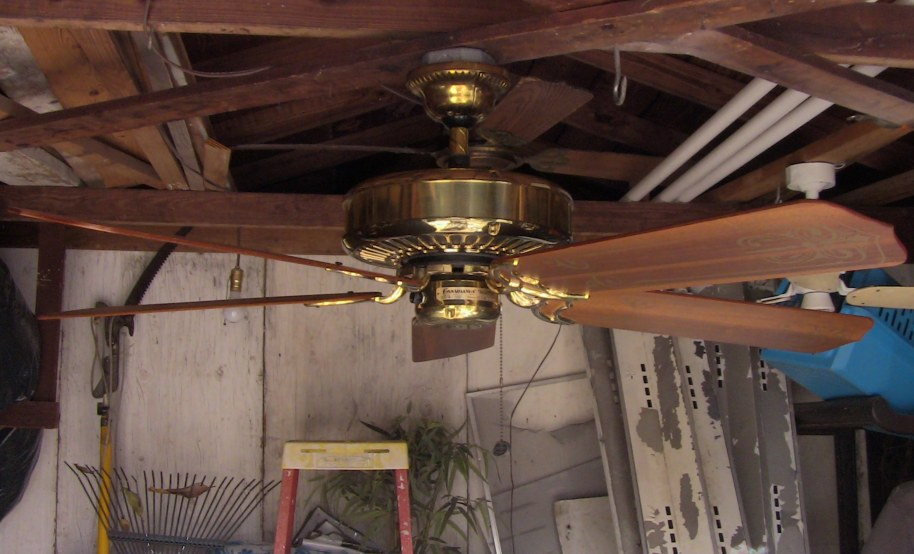 Casablanca Panama 5 Brass Ceiling Fan February 1983