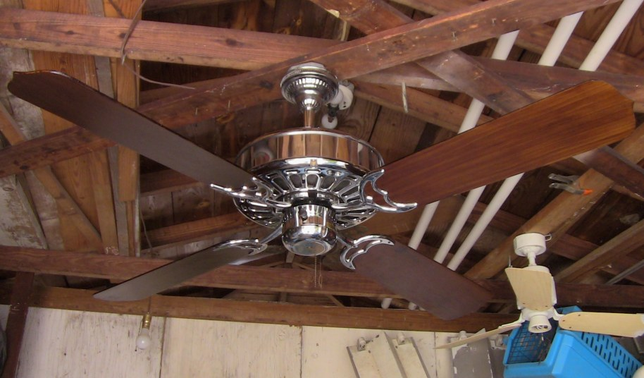 1980s Ceiling Fans : Casablanca zephyr chrome ceiling fan