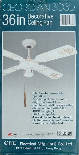 Cec Georgian Ceiling Fan Model 3o3d