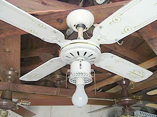 Cec White Georgian Ceiling Fan
