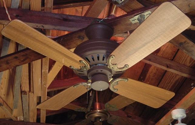 Fasco Charleston Ceiling Fan Model 438 (Dark Brown)