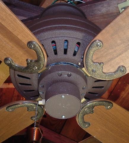Fasco Charleston Ceiling Fan Model 438 Dark Brown