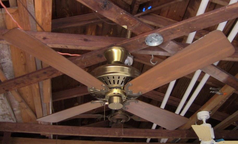 Fasco Charleston Ceiling Fan Model 452 Antique Brass