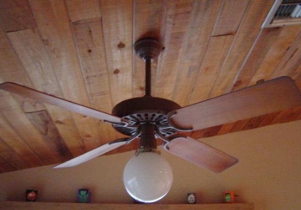 1980s Ceiling Fans : Hunter original robbins myers brown ceiling fan from