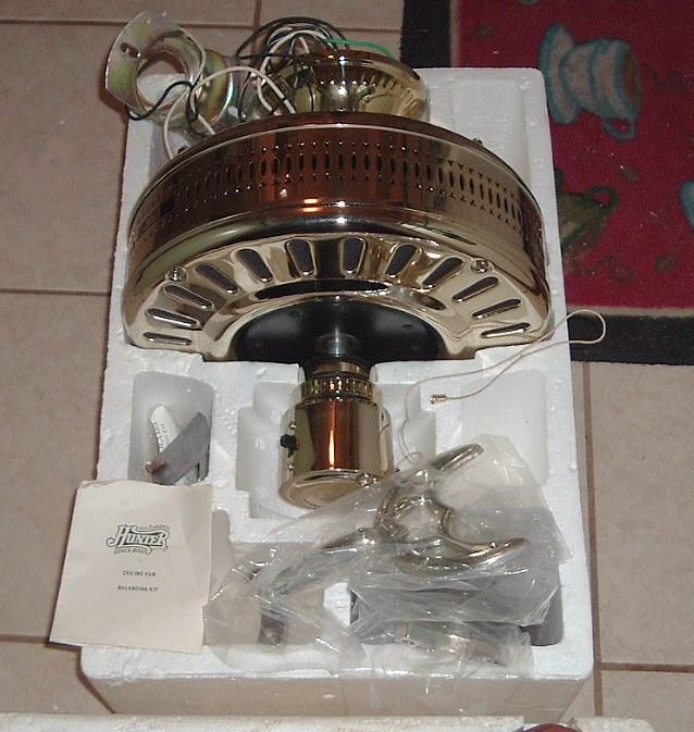Hunter Studio Series Ceiling Fan Model 22424