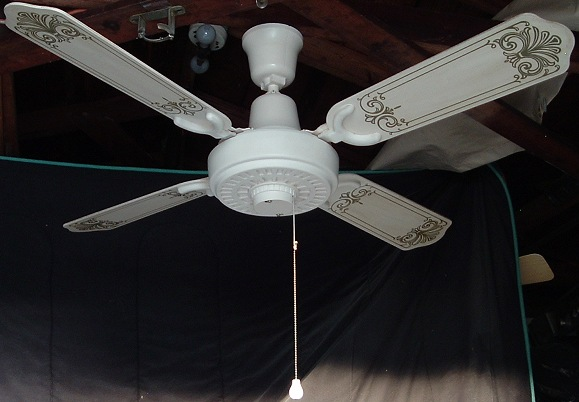 1980s Ceiling Fans : Lasko plastic black ceiling fan from the early s