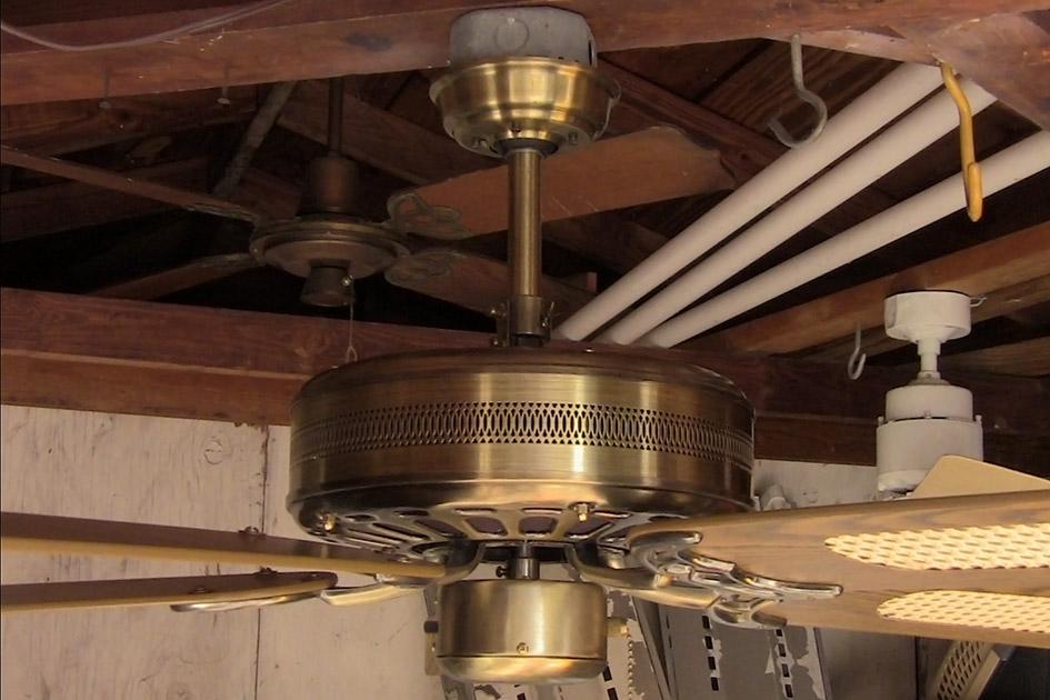 Moss Hf 100 Series Antique Brass Heirloom Deluxe Ceiling