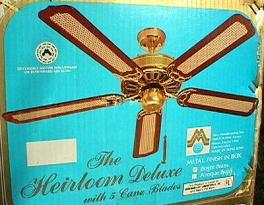 Moss Heirloom Deluxe Five Blade Ceiling Fan