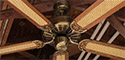 Moss Heirloom Deluxe Antique Brass Ceiling Fan (Version 2)