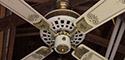 NuTone Verandah Deluxe Ceiling Fan Model PFD-52 (Brass & White)