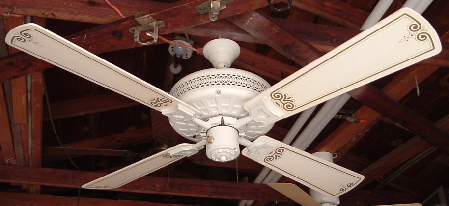 Nutone verandah deluxe ceiling fan model pfd 52 white pictures aloadofball Images