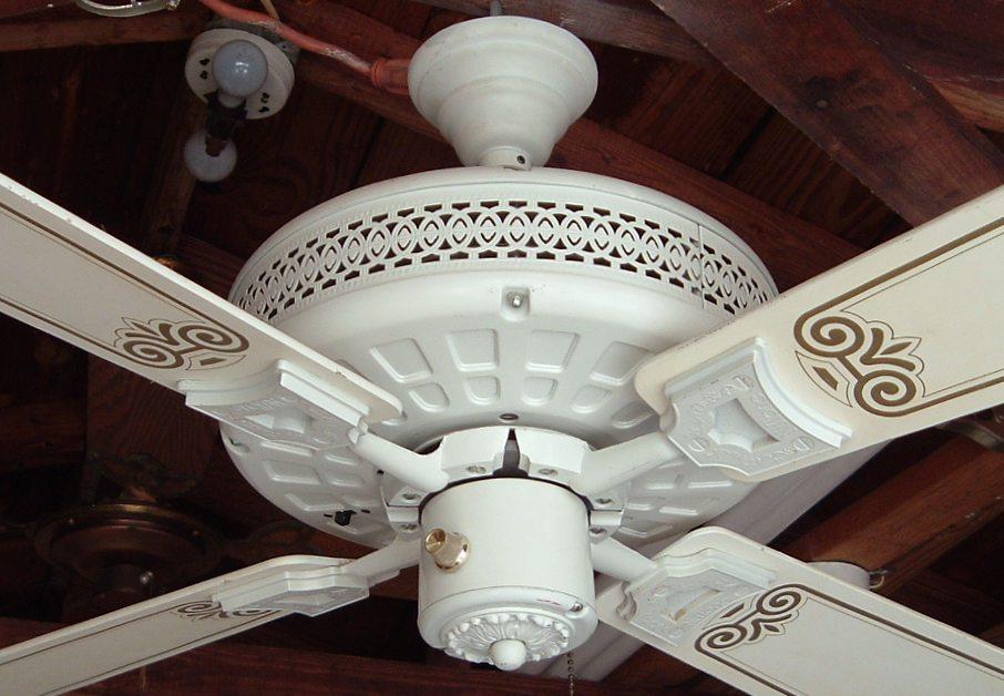 Nutone Verandah Deluxe Ceiling Fan Model Pfd 52 White