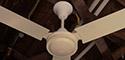Safer Blue Cross 48 Inch 4 Metal Blade White Ceiling Fan