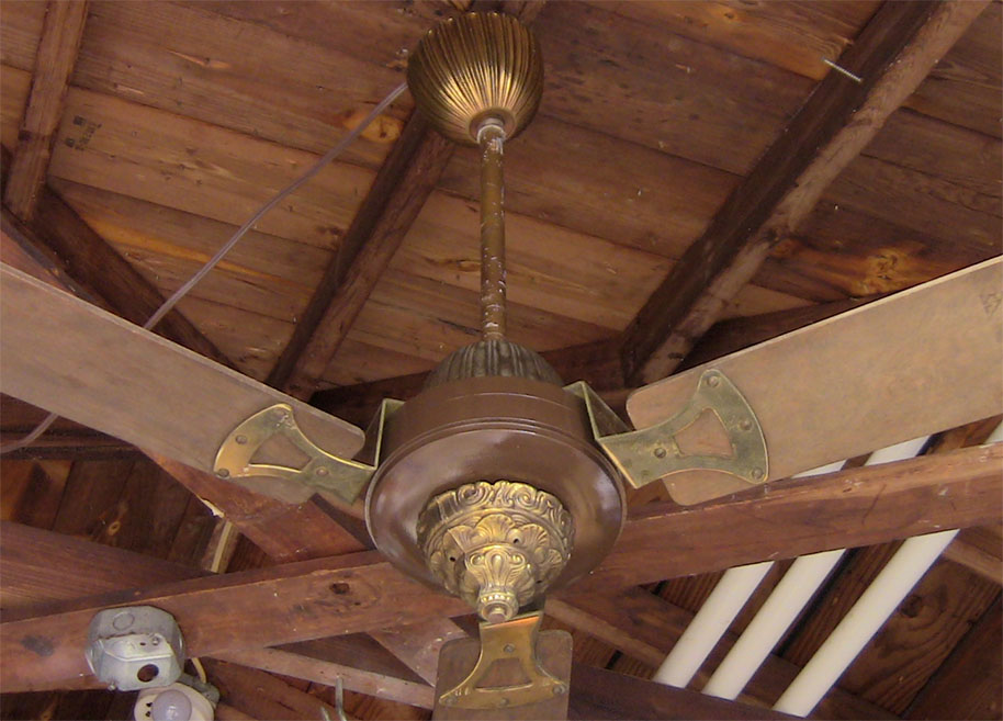 1970s Ceiling Fan : Vintage s ornate ceiling fan