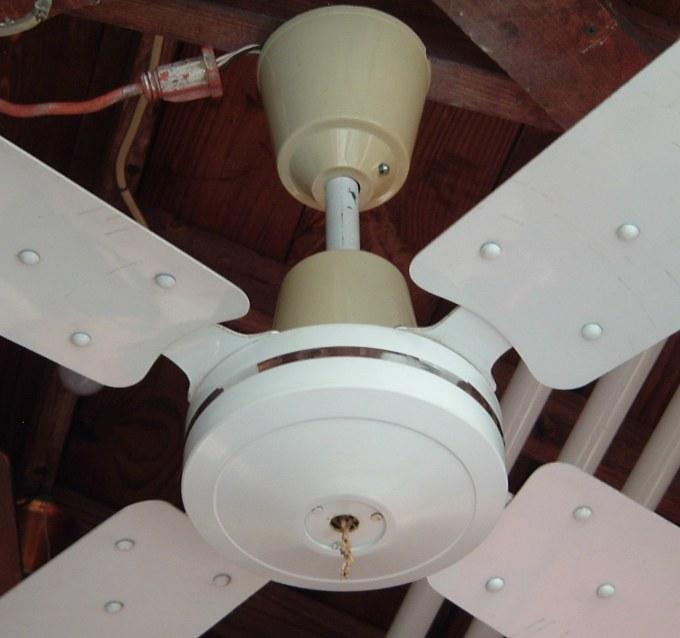 White 48 Inch 4 Metal Blade Ceiling Fan