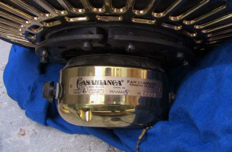 Casablanca panama 5 slumber quiet vintage ceiling fans forums so the only thing i need is a polish brass panama 5 blade holder this thing has virtually no scratches on it aloadofball Gallery