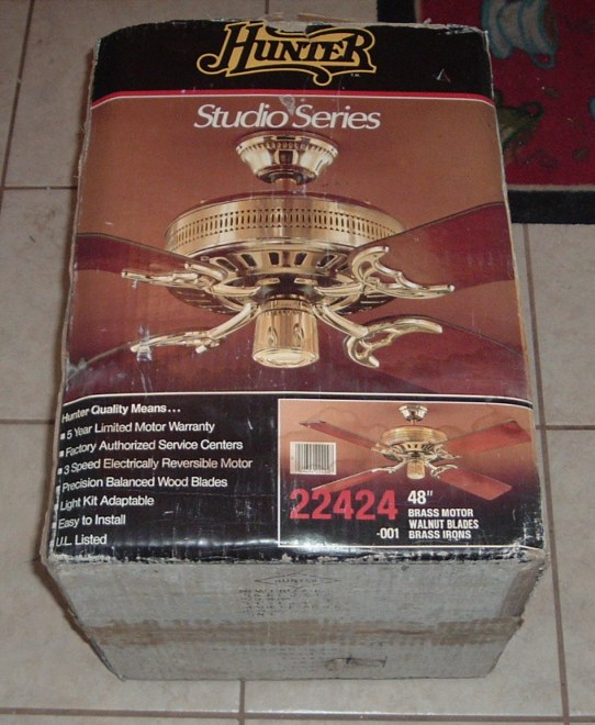 Hunter studio series vintage ceiling fans forums i couldnt past this mid 1980s hunter up for 10 more to come when i post it under the gallery updates board mozeypictures Choice Image