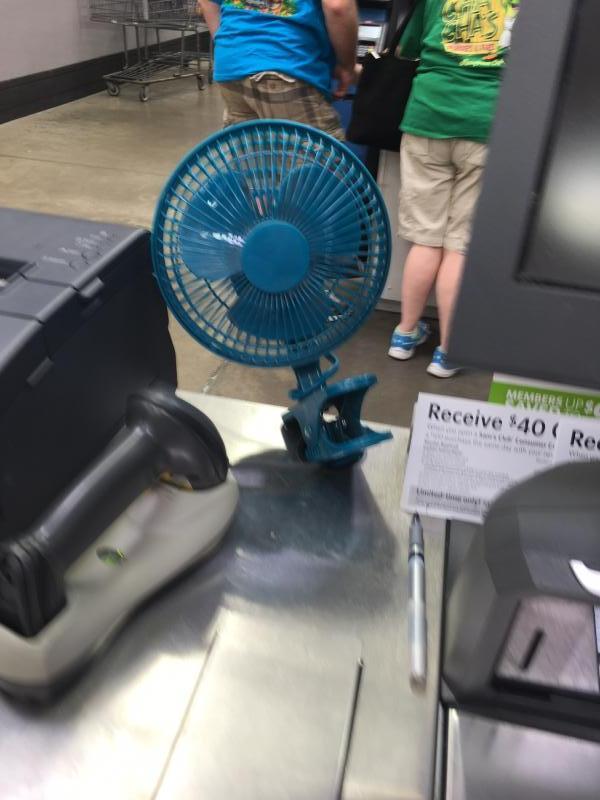 Mainstays 6 inch 2 in one clip/ desk fan